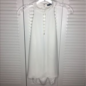 Zara White Sleeveless Blouse